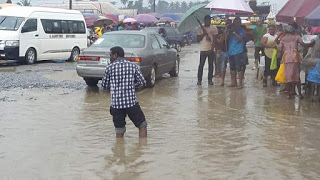 Bad road in the Niger Delta
