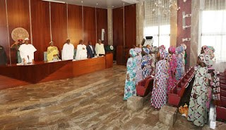 President Buhari meets freed Chibok girls 65