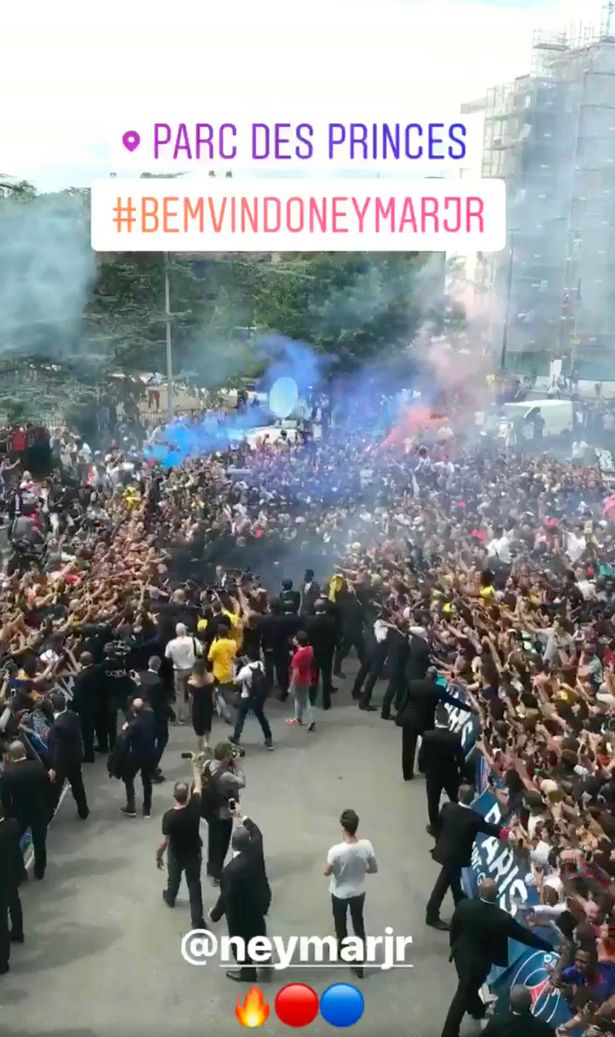 A stunning reception for the Brazilian
