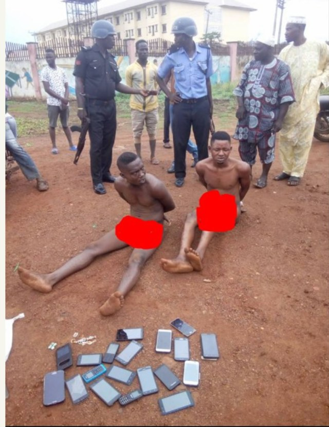 Phone Thieves stripped naked