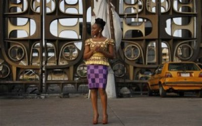 Chimamanda Ngozi Adichie in Tafawa Balewa Square in Lagos