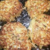 Cooked potato pancakes