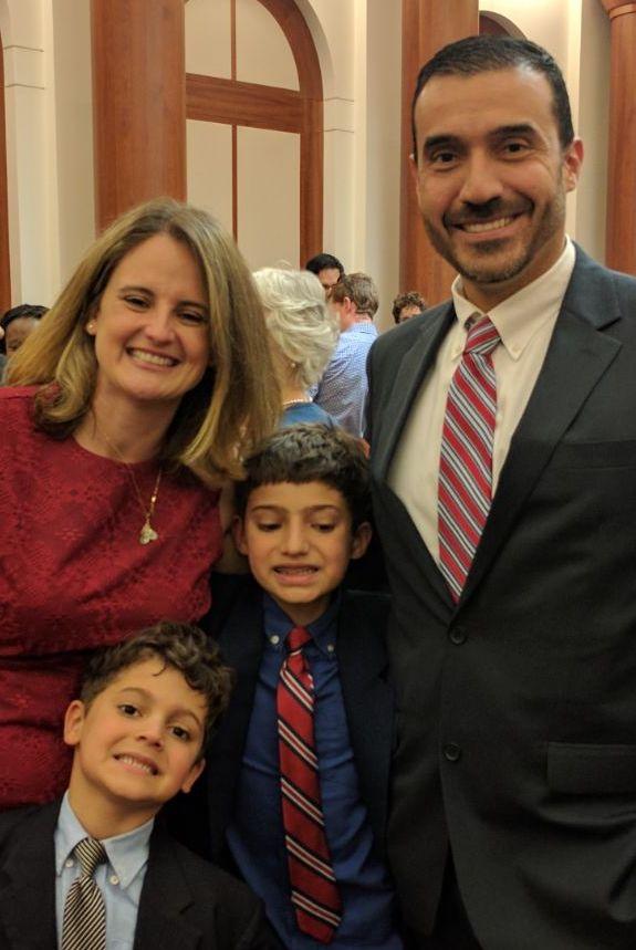 The ThreeYear Family at Mr. ThreeYear's US Citizenship Ceremony last May