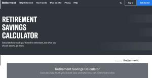 Betterment Retirement Calculator Review