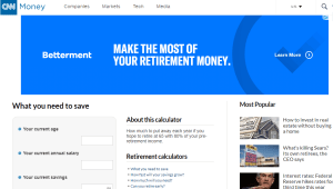 CNN Money Retirement Calculator Review