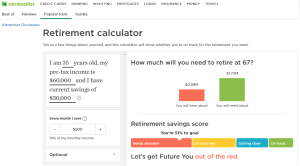 Nerdwallet Retirement Calculator Review