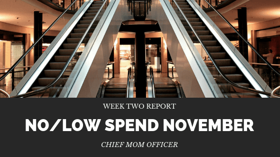 No Low Spend November Week 2