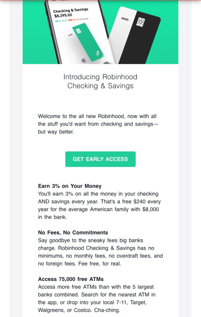 Robinhood email