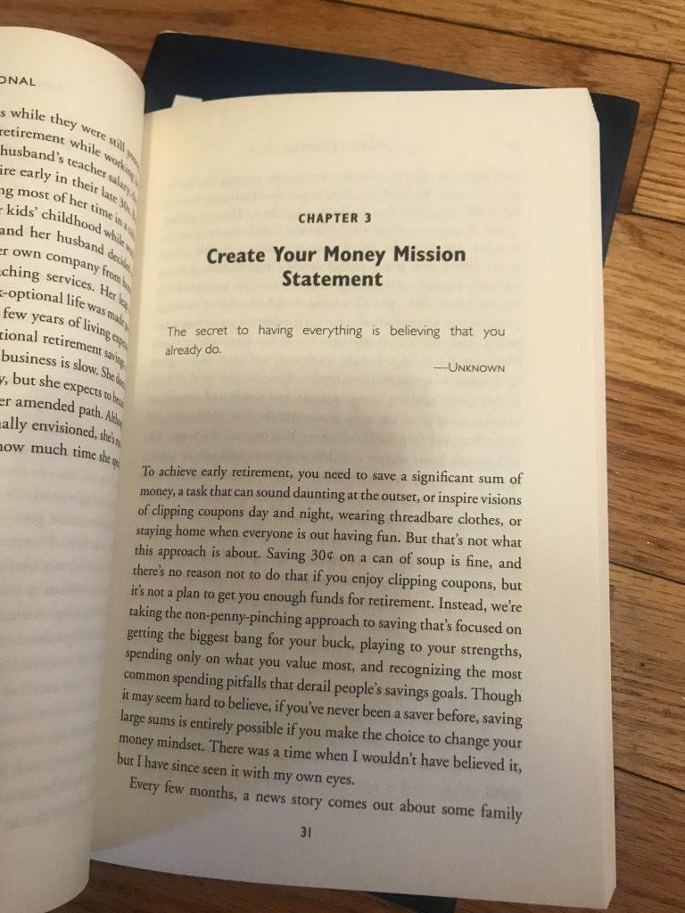 Money Mission Statement Work Optional