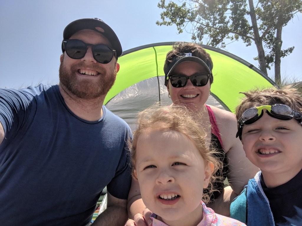 K. Barnes Family at the Beach - Kristine Barnes