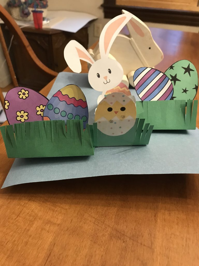Homemade Pop Up Easter Card