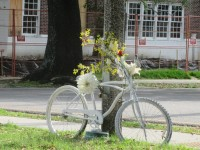 bicycle memorial on st. claude
