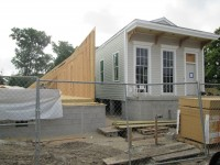 infill construction of spec houses from Frey Meat Plant in Bywater