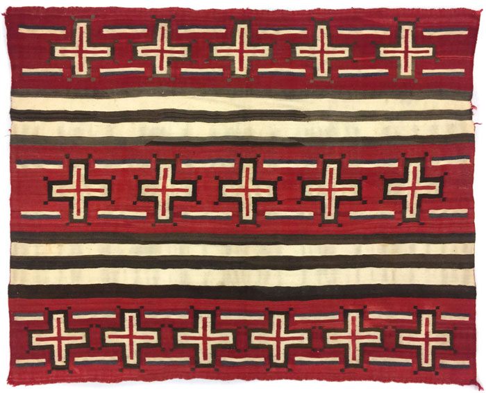 Germantown Navajo Blanket with Spider Woman Crosses
