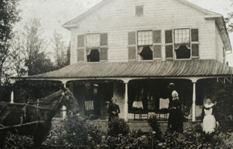 Chiefswood National Historic Site Black and White Image of House