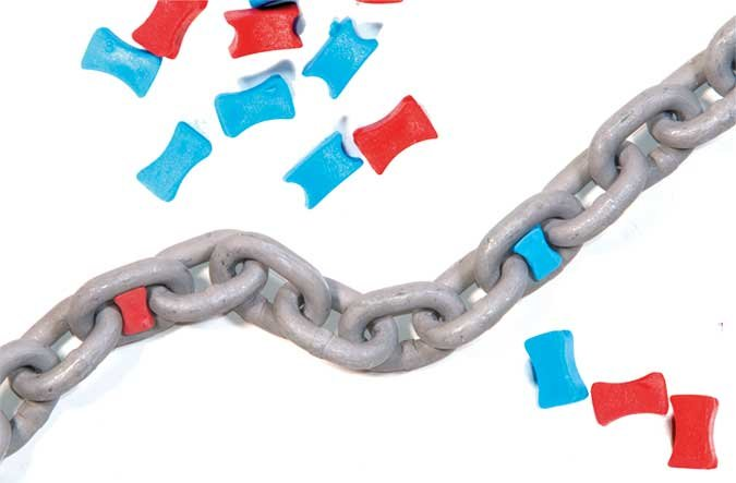 anchor-chain-with-colorful-plastic-markers