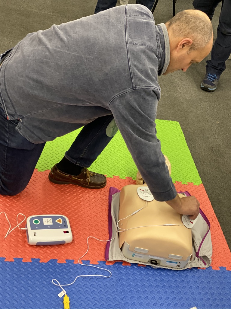 AED Training as part of the HSE First Aid at Work Course