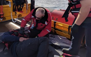 RYA First Aid Course Casualty