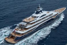 Super-Yacht-In-Sea