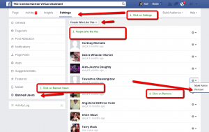 ban users from my Facebook page