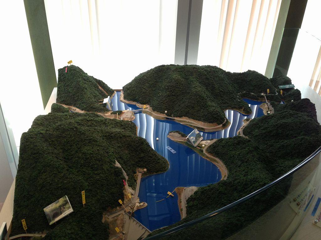 大島ダム模型