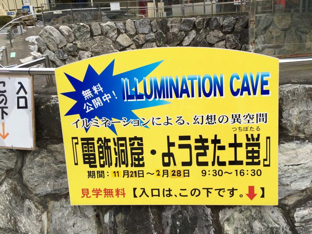 竜ヶ岩洞イルミネーション