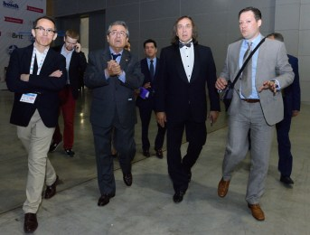 Pedro Santiago Allemant - Movie director, Carlos Manuel Alfredo Velasco Mendiola – Ambassador of Peru in the Russian Federation, Alexandr Inshakov - President of the Russian Kinological Federation