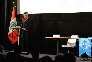 MC Mr. David Vergara Pilares - Embassy of Peru in Belgium. Photo by Mauricio Alvarez.