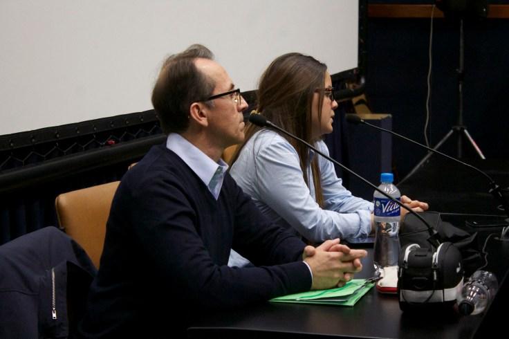 Pedro Santiago Allemant – Director del filme y Maria Paz Barragan - Ventana Indiscreta - Universidad de Lima