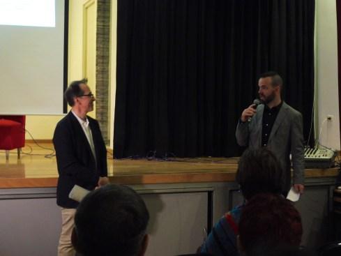 Pedro Santiago Allemant – Director del filme y Thomas Ducroquet - Director de la Alianza Francesa de Trujillo