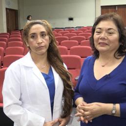 Dra Juana Figueroa (Veterinaria) y Dra Teresa Rosales-Tham (Doctora Teresa Rosales – Arqueóloga docente de la Facultad de Ciencias Sociales – Antropología de le Universidad Nacional de Trujillo )