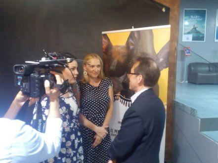 Katia Tonkovid - Embassy of Peru in the Russian Federation, Yulia Kremenetskaia - photographer and Pedro Santiago Allemant - Movie Director. Photo by Daniel Casanave