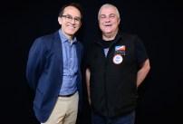 """Pedro Santiago Allemant (réalisateur du film) et Franck Haymann (Directeur """"chiens-online"""" - SCC). Photo by Mauricio Alvarez"""