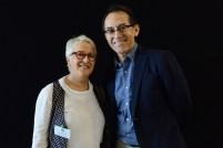 Anne Marie Class (Secrétaire adjointe - SCC) et Pedro Santiago Allemant (réalisateur du film). Photo by Mauricio Alvarez