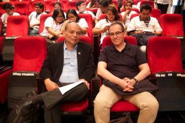 MSc. Jorge Luis Chanamé Céspedes FCCBB de la UNPRG y Pedro-Santiago Allemant (Realizador del filme). Photo by Favio Jordi Martínez Nuntón / appp – adpp ©2019.