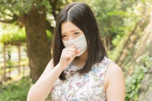 花粉症による咳