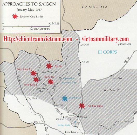 Bản đồ vị trí trận Suối Tre năm 1967 trong chiến tranh Việt Nam - Position of Battle of Suoi Tre in Viet Nam war