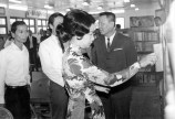 Madame Nguyen Van Thieu attending Library Dedication, National Wards School 1971