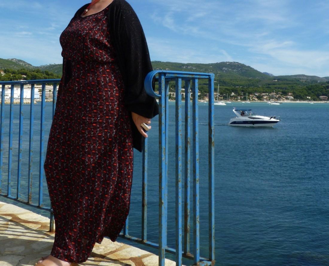 un look en robe longue