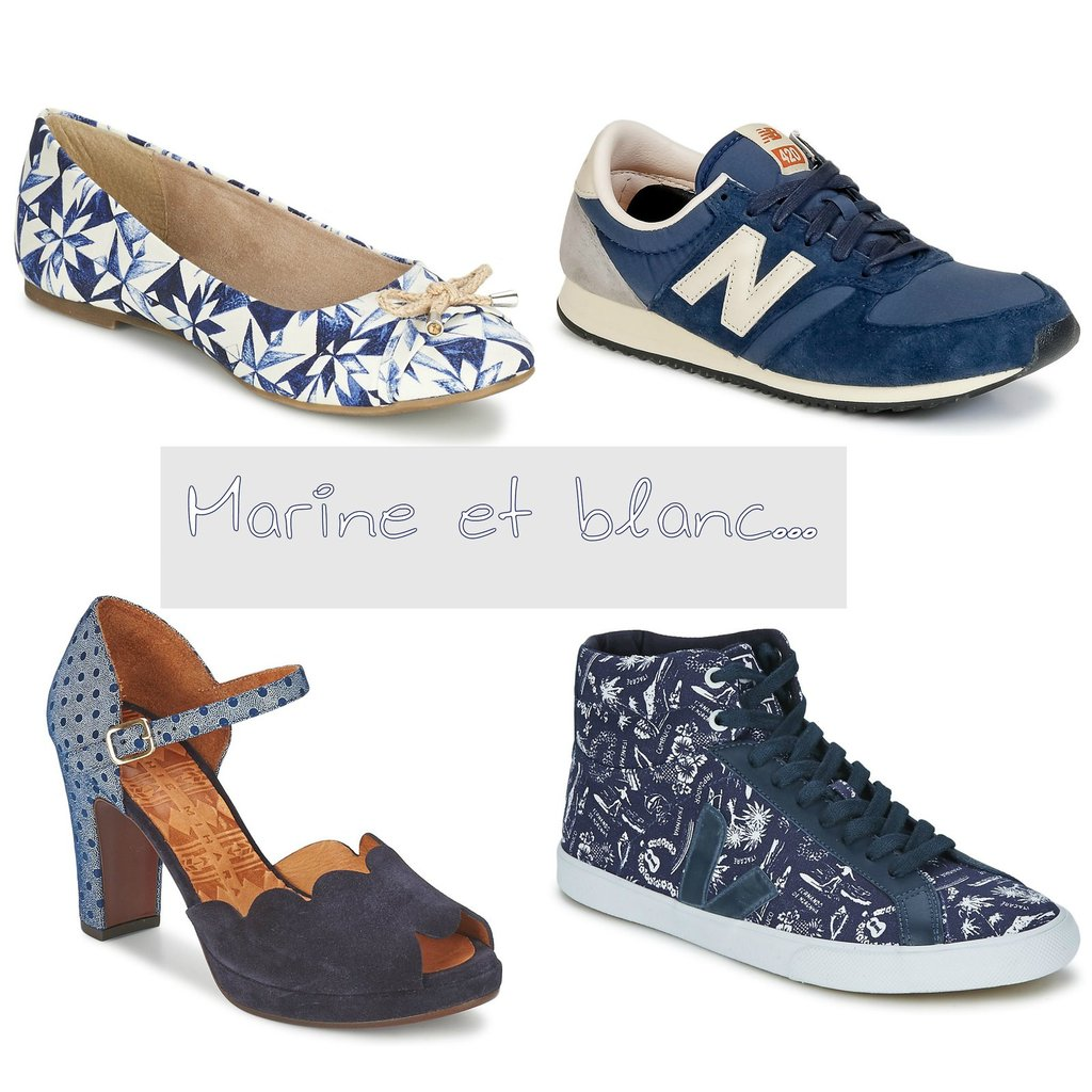 Shopping marine et blanc