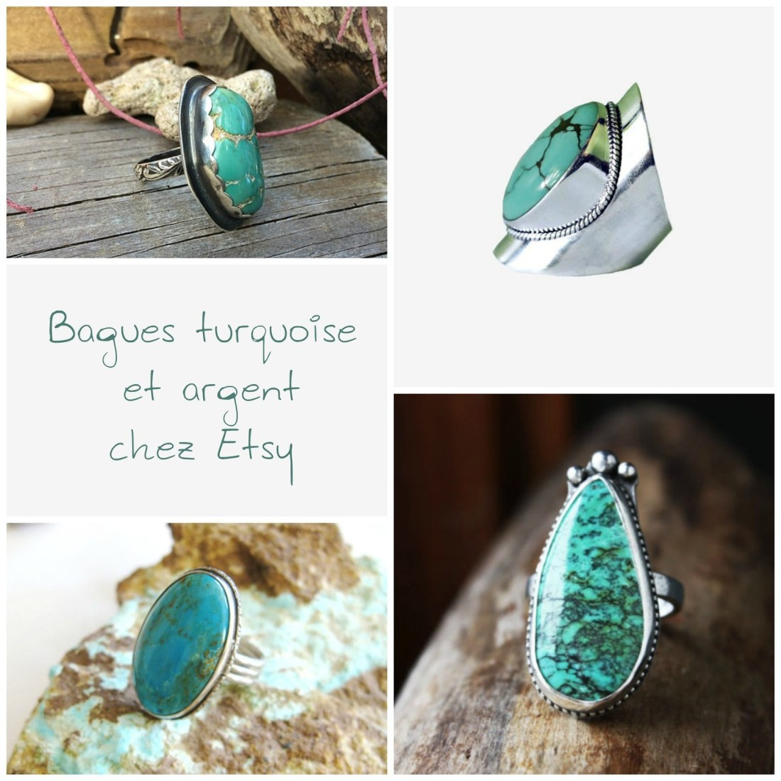 selection bagues turquoise