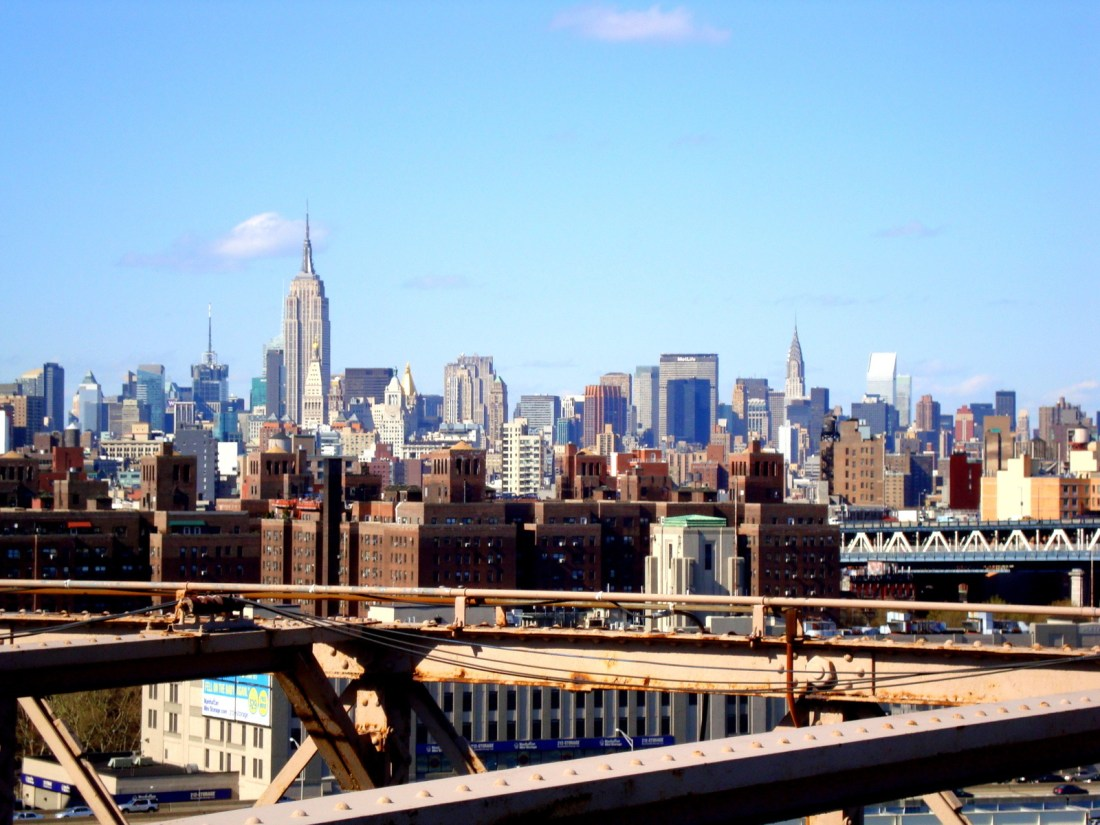 Depuis le pont de Brooklyn...
