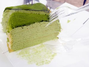 Gâteau mille-crêpes green-tea