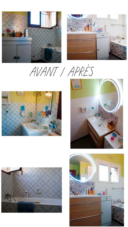 salle de bains avant/après