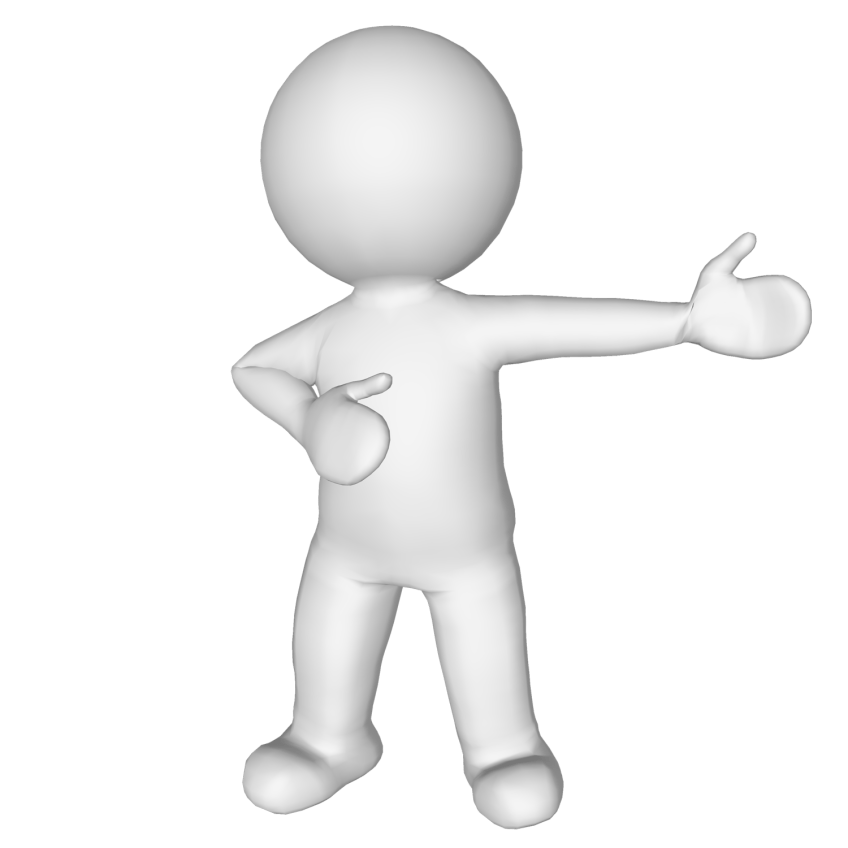 animated man pointing