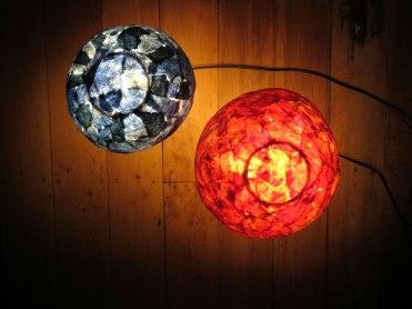 mushroom lamps (top view)