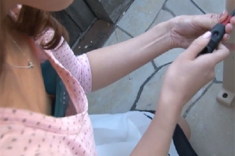 米倉のあさんのブラ浮き乳首チラ