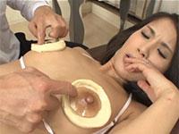 乳首の色を良くするエステで乳首イキしちゃう産後ママ!産後の敏感乳首を弄られ冷やされ執拗なマッサージをされる一部始終!