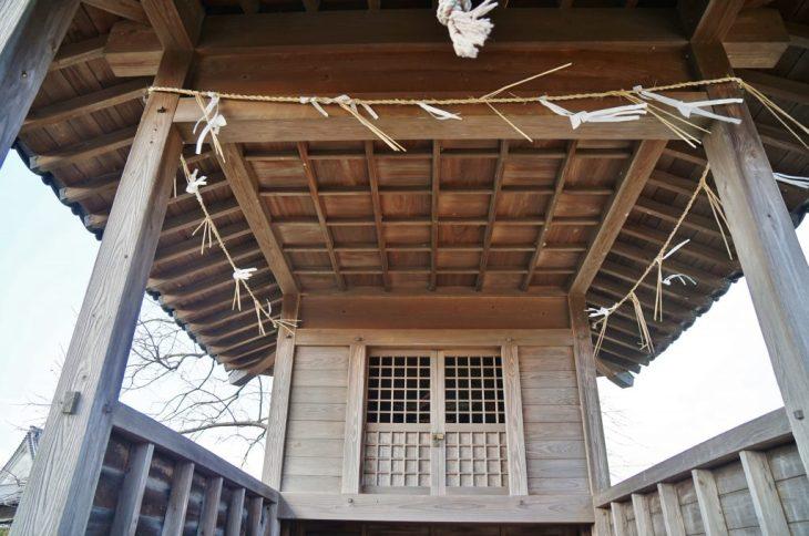 みやま市高田町海津 帝神社 拝殿内部 天井