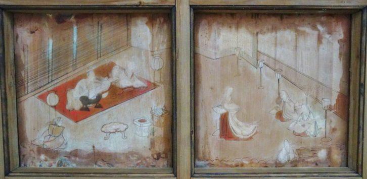 みやま市瀬高町大江 若宮神社 天井絵 拝殿内